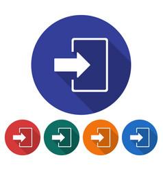 Round icon entrance login registration etc vector