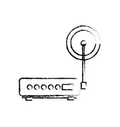 Router modem hardware connection communication vector