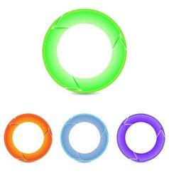 Set of round arrows vector