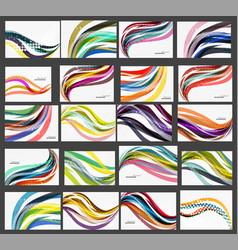 set of wave elegant modern geometrical templates vector image vector image
