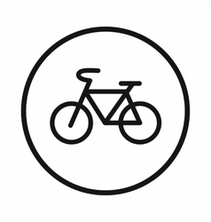Sign bike icon simple style vector