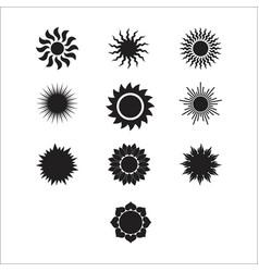 Silhouette sun 1 vector