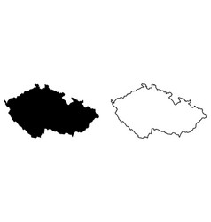 simple only sharp corners map czechia czech vector image