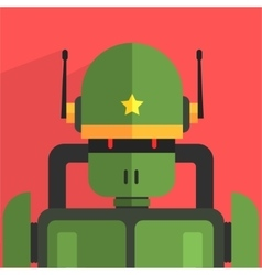 Soldier Robot Character vector image