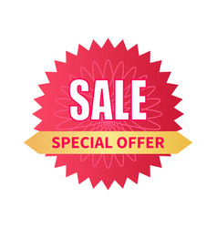 special offer sale premium promotion label vector image