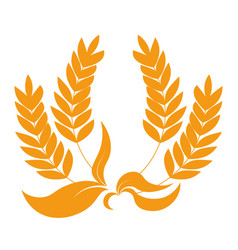 Spikelets as heraldic symbol organic product vector