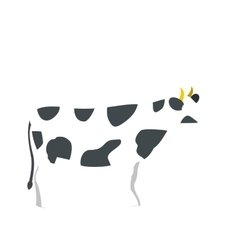 Spotted cow icon flat style vector