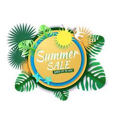 summer sale promotion banner poster paper vector image