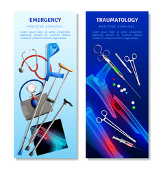 surgical traumatology vertical banners vector image