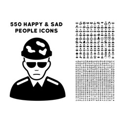 swat soldier icon with bonus vector image