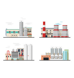 thermal power stationchemical factory or plants vector image