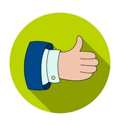 Thumb up icon in flat style isolated on white vector