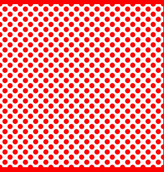 tile pattern with red polka dots on white vector image