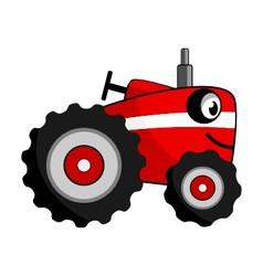 Tractor smile cartoon vector