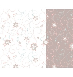 Two-colored background of flowers vector