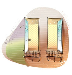 Window Balcony Background vector image
