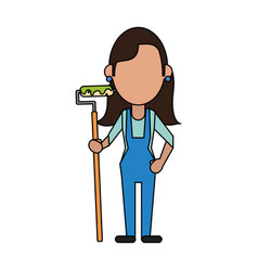 Woman worker painter vector