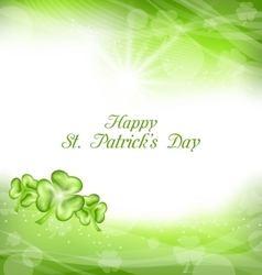 Abstract Light Background with Green clovers for vector image