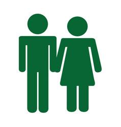 Couple human figure silhouette icon vector