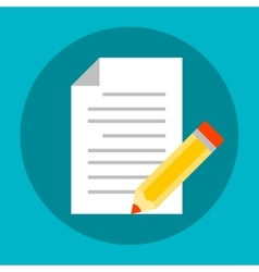 Document with pencil icon vector image