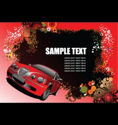 grunge background with car vector image