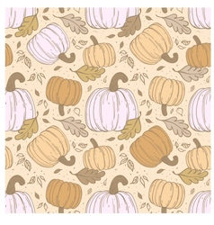 Hallowen hand-drawn seamless pattern vector image vector image