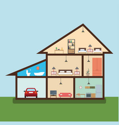 house in cut vector image vector image
