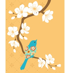 Sakura branch vector image