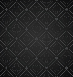 Seamless Abstract Poker Pattern Black vector image vector image