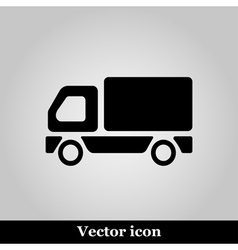 Truck Icon on grey background vector image vector image