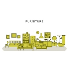 Furniture and home decoration vector image vector image