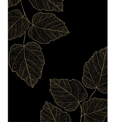Gold ornate branch with leaf vector image vector image