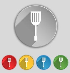 Kitchen appliances icon sign Symbol on five flat vector image