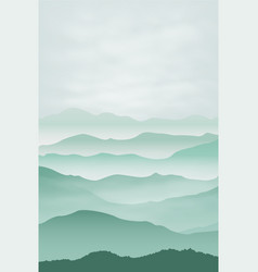 mountains in the fog background vector image