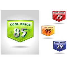 Price Badge Shields vector image vector image