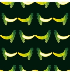 seamless banana pattern Background is on a vector image vector image