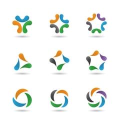 Set abstract sapes vector image vector image