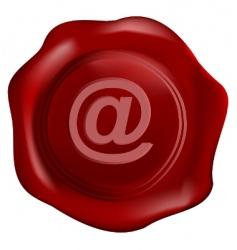 wax seal tithe internet symbol vector image