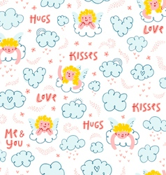 Love is in the air pattern vector image