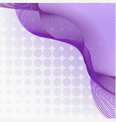 Purple wavy lines on polka dots background vector