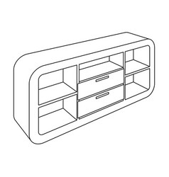 wooden cabinet with lockers and cupboardstv stand vector image vector image