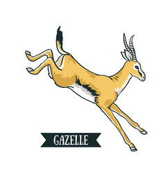 antelope image digital painting full color cartoon vector image vector image
