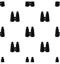 binoculars pattern in black color vector image