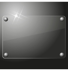 Glass plate background vector image vector image