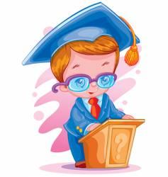 graduate cartoon vector image vector image