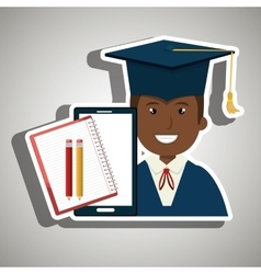 graduate student isolated icon design vector image vector image