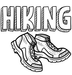 Hiking vector image vector image