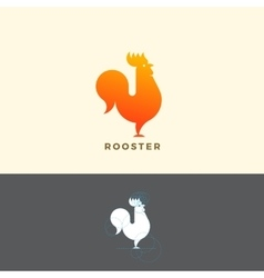 Stylized Rooster Sign Emblem or Logo Template vector image vector image