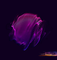 Abstract colorful mesh on dark background vector