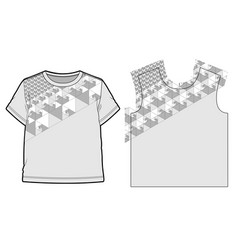 Abstract geometric pattern for a t-shirts vector
